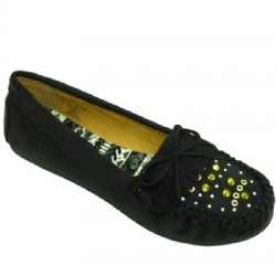 Ladies Black stud mules shoes sizes 8 1/2