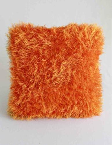 Orange Fur throw Pillow