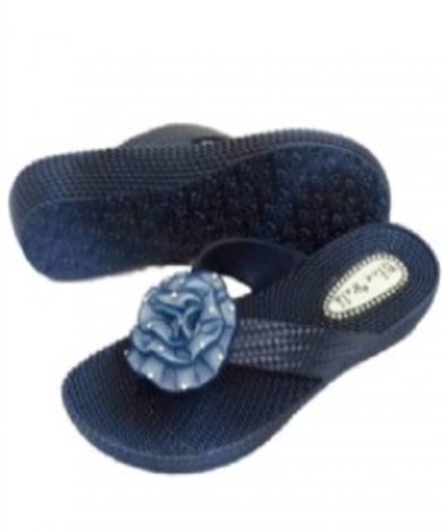 Navy Blue Toe Diamante