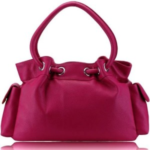 100% Pink Leather bag