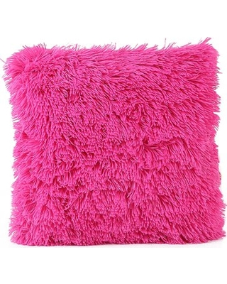 Pink Fur throw Pillow