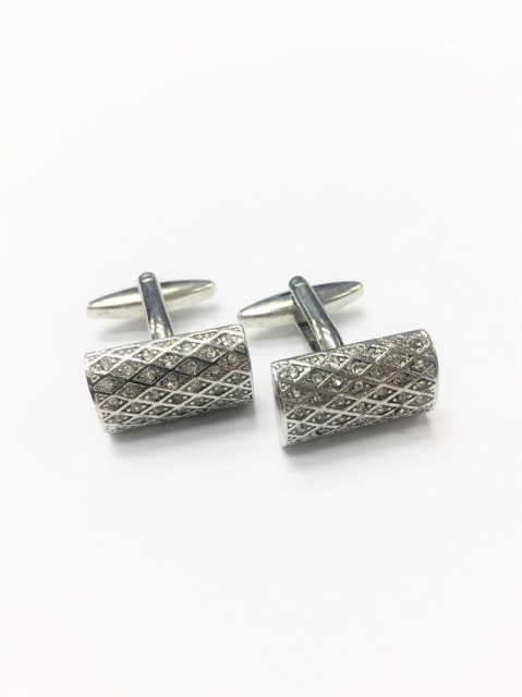 Rectangle Glittering Metal Cufflinks (CL-8763)